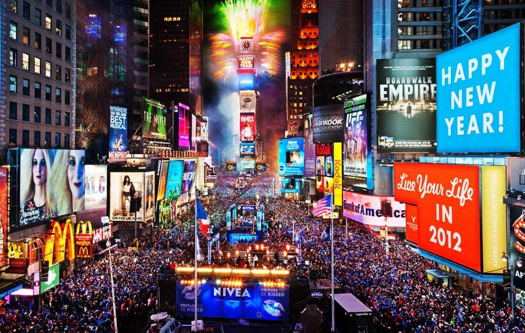 Times Square Saint Sylvestre