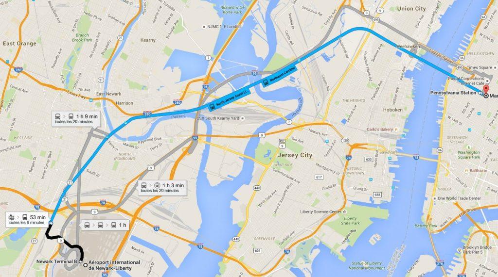 Aller à Manhattan depuis Newark