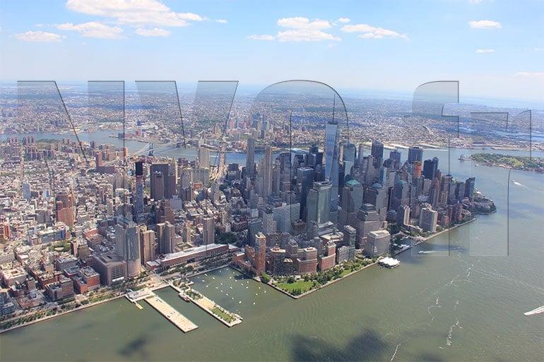 survol sud de Manhattan