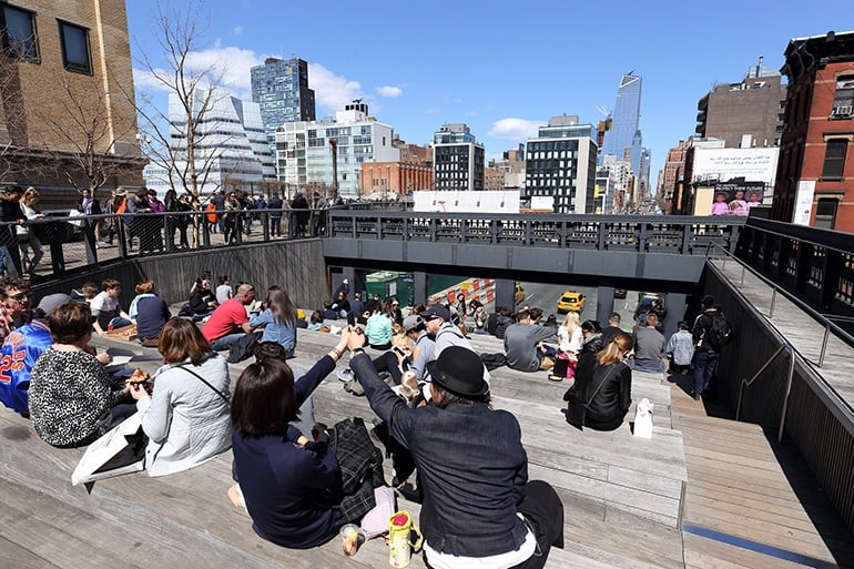 Promenade sur High Line Park