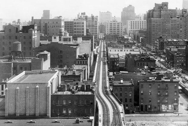 La High Line historique avec le chemin de fer